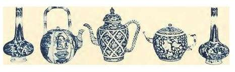 Kangxi Blue and White Tea-pots and Vases